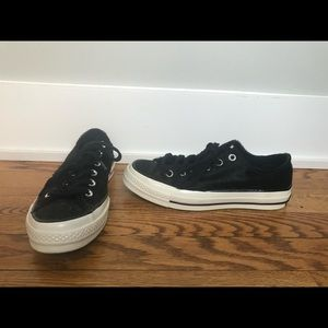 Black calf hair Converse